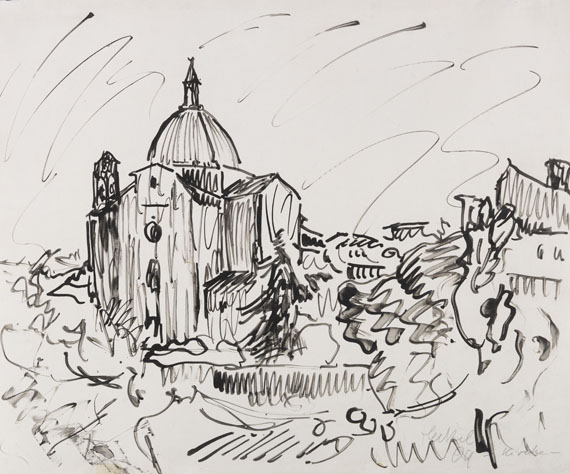 Erich Heckel - Brush and India ink drawing